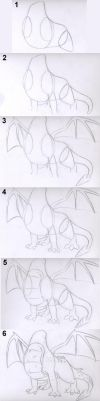 How to Draw Spyro's Body by TrainerSpyro