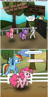 Comic:''Pinkie, this doesn't count as science'' P1 by Photonicsoup