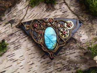 Entrapped Soul Steampunk Necklace by Anaid89