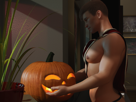 Muscular Max In Halloween Costume by neonnick