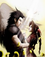 Zack and Aeris by Tionniel