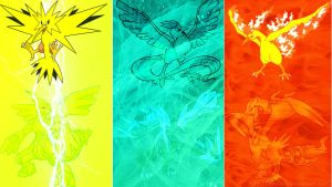 Electric, Ice, Fire trios. by EfoSxD