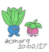 Oddish and Bounsweet