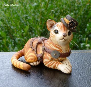 Steampunk stripped Kitty by MysticReflections