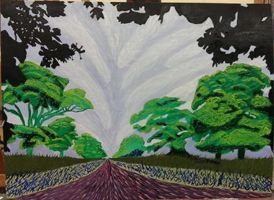 Painting class - Hockney Replication/Homage Piece by M-Rehe