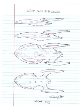 Glenn-class Light Cruiser Preliminary Sketches by JESzasz