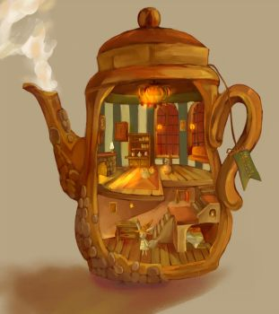 Tea Pot - Bigger View by cafe-star