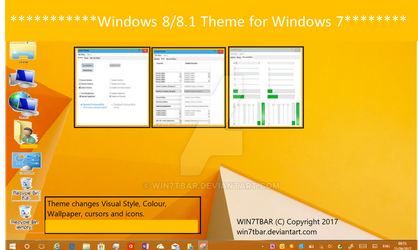 Windows 8 Theme for Windows 7 by WIN7TBAR