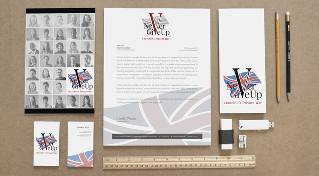 Never Give Up visual identity by TeaForOne