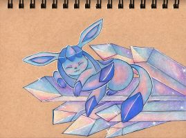 Glaceon's Ice Paradise by sketchwithtiff