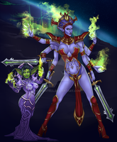 Pixxni and her Shivarra by Evanyell