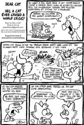 ASK A CAT: World Crisis by bakertoons