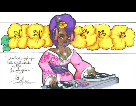 DJ Afro-geisha by KPhillips702