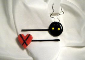 Heartless Hair Clips by OurDestinyDesigns