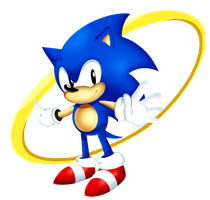 Classy Classic Sonic by itsscarfy