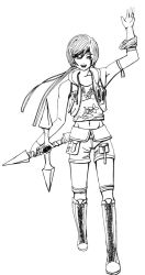 Yuffie Lineart by LadyCyco