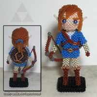Beaded doll: Link (Breath of the Wild) by crafty-maika