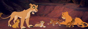 TLK 3/2 CC: Royal Mothers and the cubs by FallenFireFox
