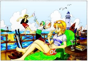 One Piece - Chillin by arseniic