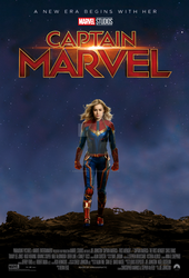 Captain Marvel movie poster by ArkhamNatic