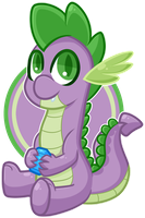 Chibi MLP - Spike by Ak4neh
