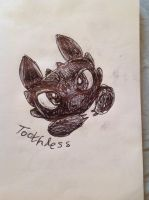 Toothless by wingedmusician
