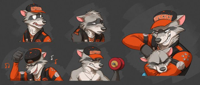 Commission: Rocky's Expression Sheet #2 by Temiree