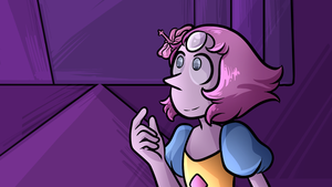 Pearl Screenshot Redraw - A Pale Pink Rose by CalmChapsArt