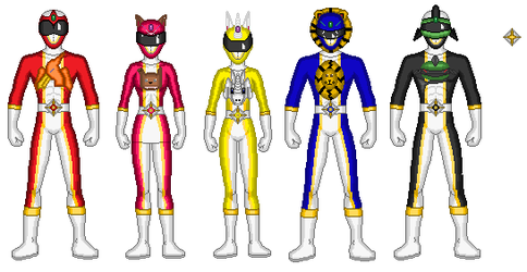 Mighty Morphin' Power Rangers of  Tolric by powrpurpl