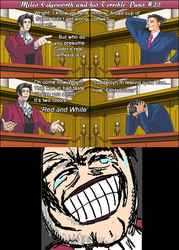 Miles Edgeworth and His Terrible Puns #22[SPOILER] by DarkMatter89