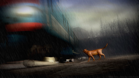 gm01 trains_and_winter_rains by Mickey-the-Luxray
