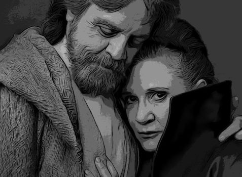 Luke and Leia final by jlscsiago