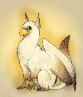 Chardonnay the Siamese Gryphon by persian-pirate