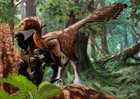 Troodons Tool using dinosaurs by Psithyrus