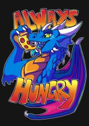 always hungry t-shirt design by meroaw