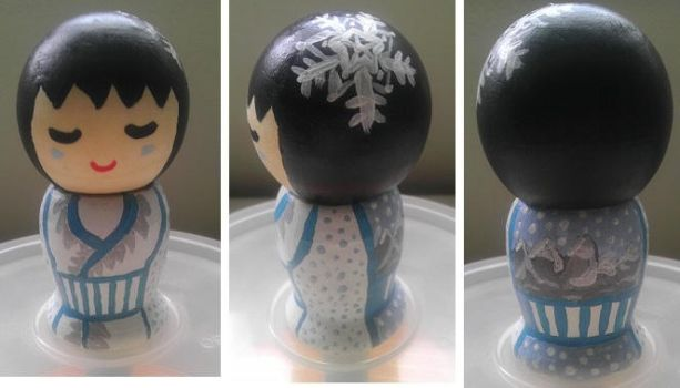 Winter Kokeshi Doll by Froggy-Spaztastic