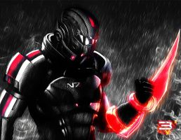 Mass Effect 3 Shepard SIN CITY EDITION by abrahamalviarez