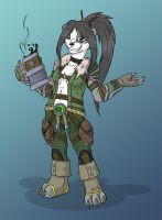 Pandaren with coffee by Vosmy