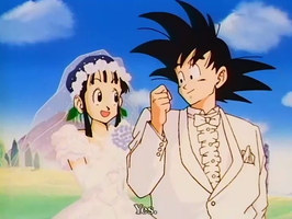 Goku and Chichi's Wedding by KitsuneBrown
