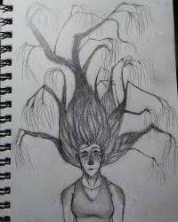 Edgy Tree Hair Girl Thing by Wickacti