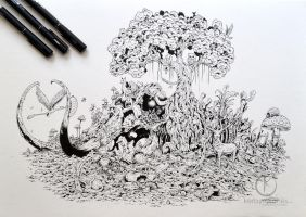 COMMISSIONED WORK: Mammoth Paradise by kerbyrosanes