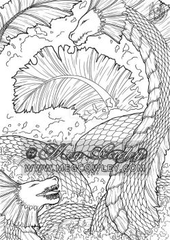 Water Dragons (The Fantasy Colouring Book)