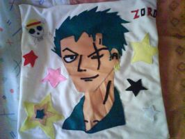 My Zoro Roronoa Pillow by LuffySwan