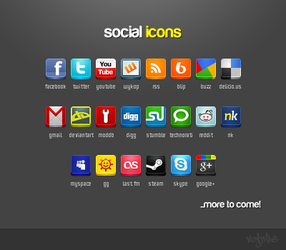 Social Icons Pack by VoYtHAs
