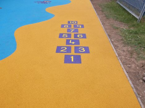 Wet Pour Hopscotch Installers by PlaygroundMarkings