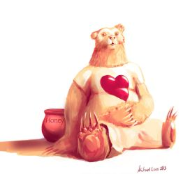 Mitch Bearpaw - Honey lover by MichaelLoos