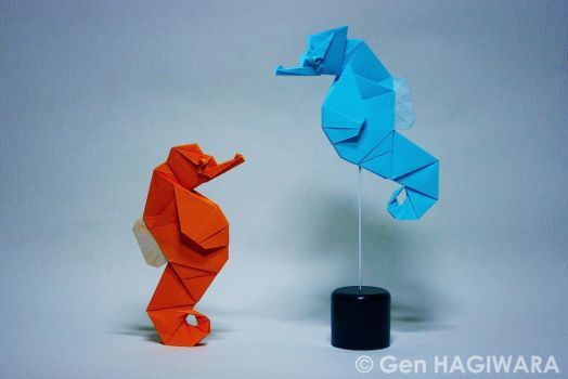 Origami Sea horse by GEN-H