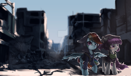 Commission: Ruins by Meruprince