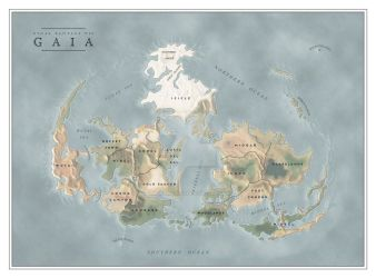 Gaia FF7 map by SalesWorlds