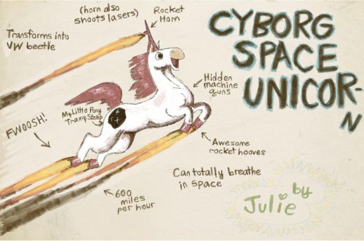 Odo: Cyborg Space Unicorn by suger-hyper